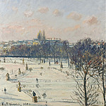 Sotheby's - Camille Pissarro - The Garden of Tuileries, Snow Effect, 1900