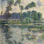 Картины с аукционов Sotheby's - Gustave Loiseau - The Banks of the Eure, Saint-Cyr-du-Vaudreuil, 1913