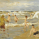 Картины с аукционов Sotheby's - Max Liebermann - Boys Bathing, 1909