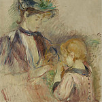 Sotheby's - Berthe Morisot - Young Woman and Child, Avenue du Bois, 1884