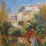 Картины с аукционов Sotheby's - Pierre Auguste Renoir - The Terrace at Cagnes, 1908