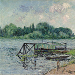 Картины с аукционов Sotheby's - Gustave Loiseau - The Laun Place on the Seine at Herblay, 1906