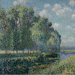 Картины с аукционов Sotheby's - Gustave Loiseau - The Bena of the Eure, 1904