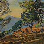 Картины с аукционов Sotheby's - Armand Guillaumin - The Bay of Agay and the Semaphore, 1922