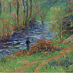Sotheby's - Henry Moret - Fisher on the Bank of the River, 1904-05