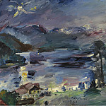 Sotheby's - Lovis Corinth - Walchensee, Rising Moon, 1922