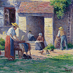 Sotheby's - Maximilien Luce - The Farm at Bessy-sur-Cure, 1906-07