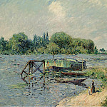 Sotheby's - Gustave Loiseau - Laun Place on the Seine at Herblay, 1906