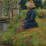 Madame Guillaumin Fishing, 1885, Арман Гийомен