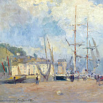 Sotheby's - Albert Lebourg - At the Port at Honfleur, 1893