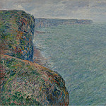 View to the Sea from the Cliffs, 1881, Claude Oscar Monet