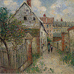 The Village Street (Louviers), 1928, Gustave Loiseau