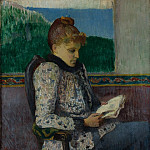 Sotheby's - Henry Moret - Reading by the Window, 1892