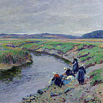 Sotheby's - Paul Madeline - Laundresses by the River, 1910