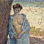 Sotheby's - Theo van Rysselberghe - Young Woman in Blue Peignoir, 1905
