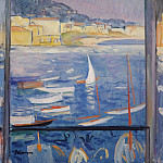 Villefranche-sur-Mer, Window Viewing on the Sea, 1926, Анри Лебаск