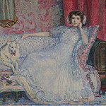 Sotheby's - Theo van Rysselberghe - Lady in White (Portrait of Madame Helene Keller), 1907