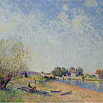 Картины с аукционов Sotheby's - Alfred Sisley - The Channel of Loing at Saint-Mammes, 1885