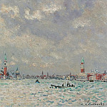 Картины с аукционов Sotheby's - Andre Hambourg - Grey Weather at Venice, 1969