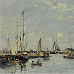 Картины с аукционов Sotheby's - Eugene Boudin - Shipping Lock at Trouville, 1894