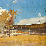 Sotheby's - Tom Roberts - Shearing Shed, Newstead, 1894