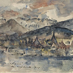 Картины с аукционов Sotheby's - Lovis Corinth - View of Lucerne, 1924
