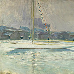 Sotheby's - Paul Cesar Helleu - Yacht Entering the Port, 1899