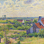 Sotheby's - Theo van Rysselberghe - Landscape with Houses, 1894