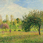 Sotheby's - Camille Pissarro - Meadow at Eragny, Summer, Sun, Late Afternoon, 1901