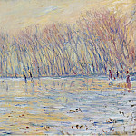 Картины с аукционов Sotheby's - Claude Monet - The Skaters at Giverny, 1899