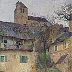 Картины с аукционов Sotheby's - Henri Martin - Street Raising to the Church of Sainr-Cirq-Lapoie, 1935