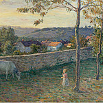 A Child at the Lawn at Pierrefonds, 1896, Анри Лебаск