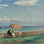 Sotheby's - Henri Lebasque - The Papasol on the Terrace of Morgat, 1924