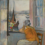 Sotheby's - Henri Lebasque - Young Woman by the Window Viewing to the Isle of Yeu, 1920