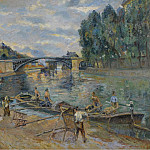 Картины с аукционов Sotheby's - Armand Guillaumin - The Bridge of Sully, Paris, 1886