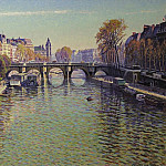 Картины с аукционов Sotheby's - Gustave Cariot - Pont Neuf at Paris (Fine Weather), 1940