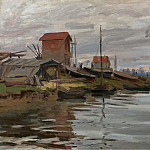 The Seine at Petit-Gennevilliers, 1872, Клод Оскар Моне