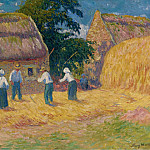 Threshing of Grain, 1897, Henry Moret