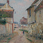Mother and Child on the Street at Pontoise, 1915, Gustave Loiseau