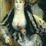 Картины с аукционов Sotheby's - Pierre Auguste Renoir - The Theater Box, 1874