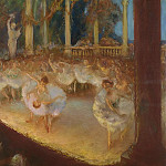 Картины с аукционов Sotheby's - Gaston La Touche - Ballerinas in the Theatre - The Ballet