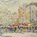 Картины с аукционов Sotheby's - Paul Signac - Nice, the Courts of Saleya