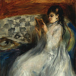 Sotheby's - Pierre Auguste Renoir - Young Woman in White Reading, 1873