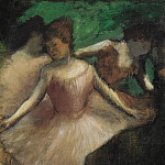 Three Dancers in Pink, 1886, Эдгар Дега