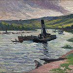 Sotheby's - Maximilien Luce - Tugboat on the Seine