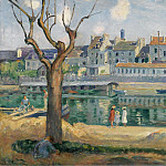 View to the Quay of Pamponne, 1904, Анри Лебаск