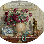 Sotheby's - Pierre-Eugene Montezin - Vase with Flowers on the Locker