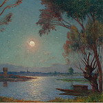 Картины с аукционов Sotheby's - Ferdinand du Puigaudeau - The Bank of Loire under Clear Moon