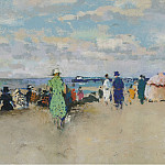 Картины с аукционов Sotheby's - Paul-Elie Gernez - Scene on the Beach, Trouville
