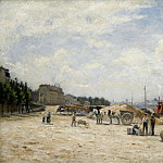The Bridge of Bercy, View from the Gare Quay, 1875-80, Stanislas Lepine